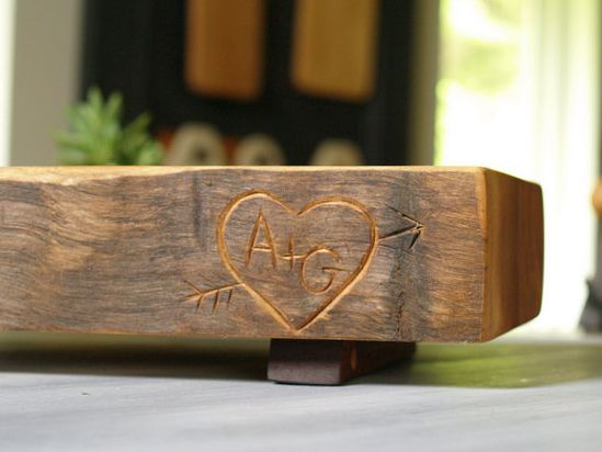 Customized Cutting Block  Carved Monogrammed by CattailsWoodwork, $135.00