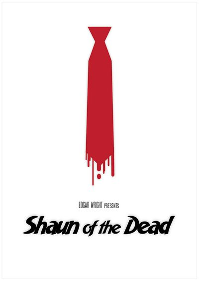 Shaun of the Dead Minimalism Movie Poster by Sabrina Jackson. 16 Minimalism Movie Poster Designs. #poster #graphic #design #minimalism