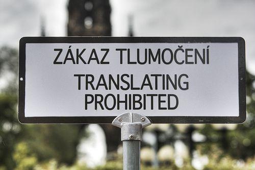 Translating Prohibited funny sign