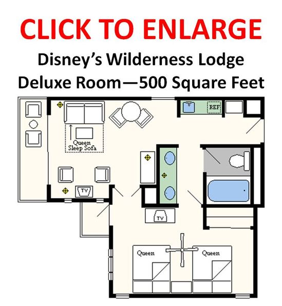 Floor plans for all the Disney Resorts