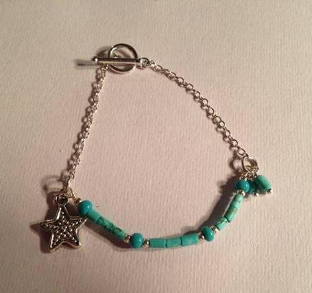 Turquoise Bracelet Children's Jewelry by prettylittlepretties, $12.00