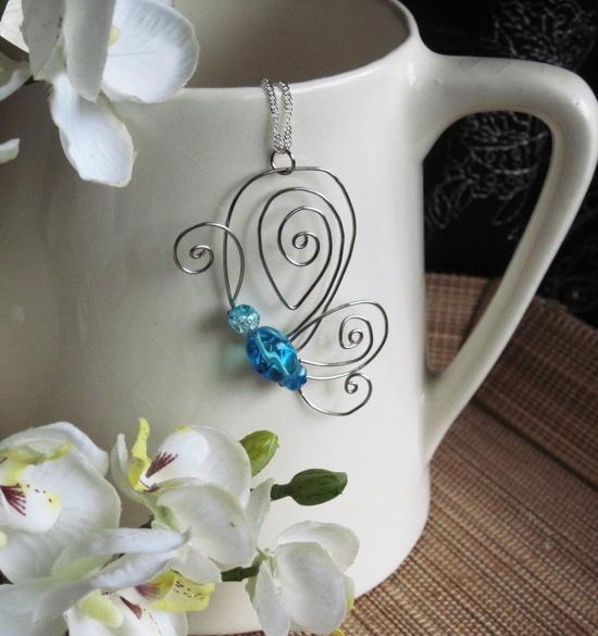Sacred Journey Butterfly Pendant. $20.00, via Etsy.  So cute!