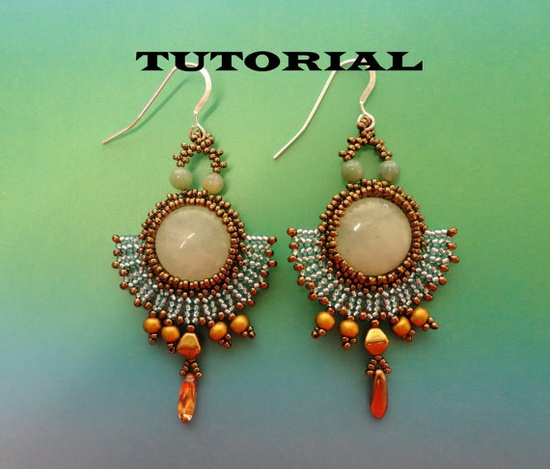 *P TUTORIAL for Romantic beadwoven earrings
