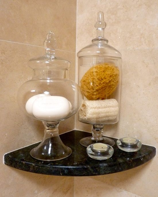 Apothecary jars to hold #bathroom design #modern bathroom design #bathroom design #bathroom decorating before and after #bathroom decorating