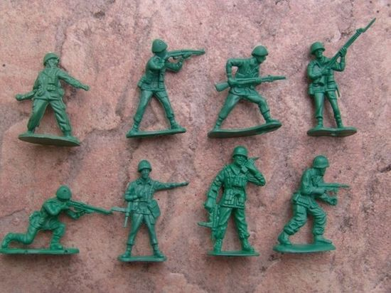 Army men! We still have a box of them somewhere!