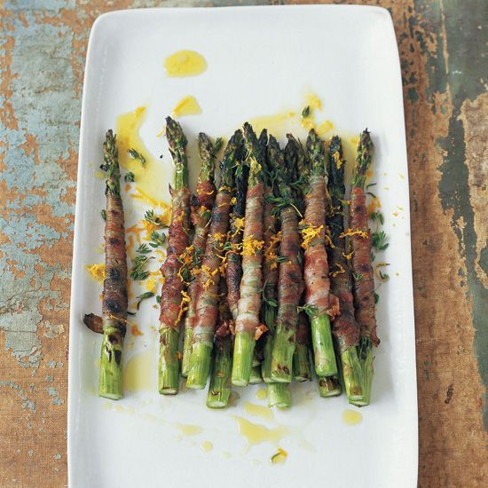 Prosciutto-Wrapped Asparagus with Citronette // More Asparagus Recipes: www.foodandwine.c... #foodandwine