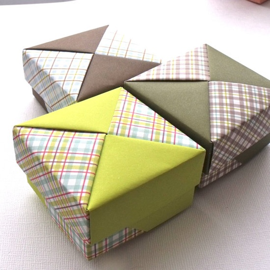 Handmade origami gift boxes