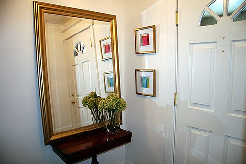 Make sure that your mirrors don't reflect your home alarm.