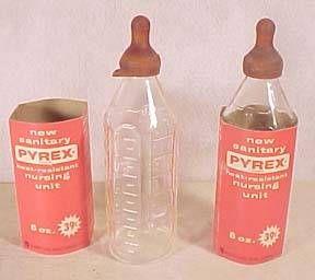 Glass baby bottles...
