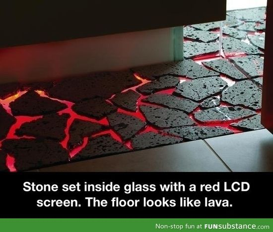 Lava floor decoration