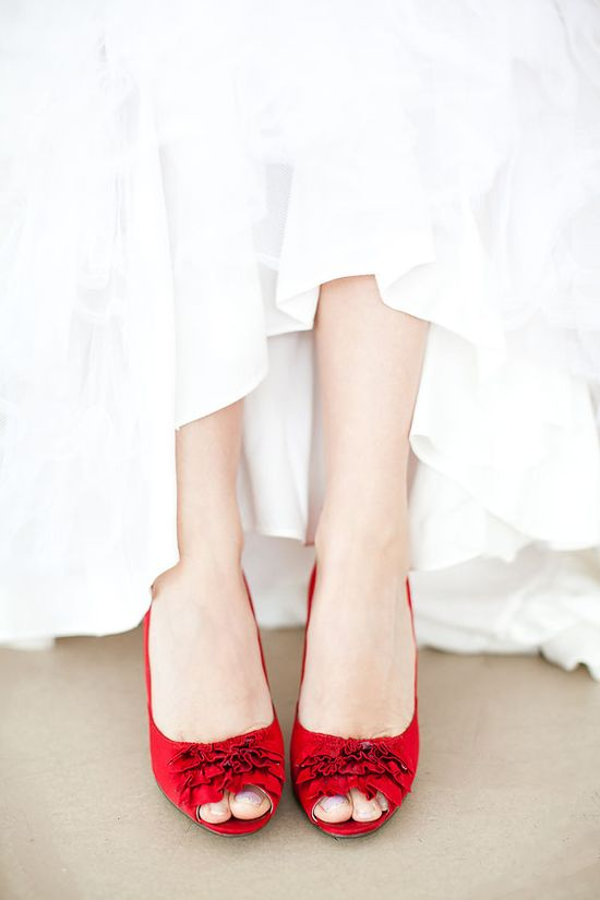 Cute red shoes!