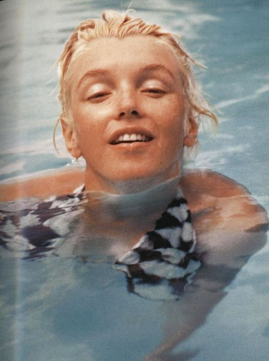 I love this one of Marilyn Monroe with no make up.