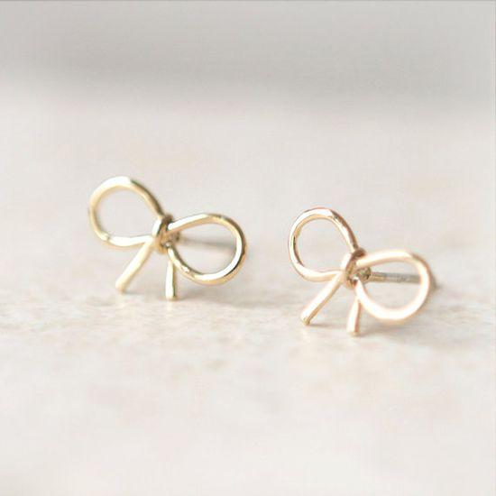 bow earrings!!