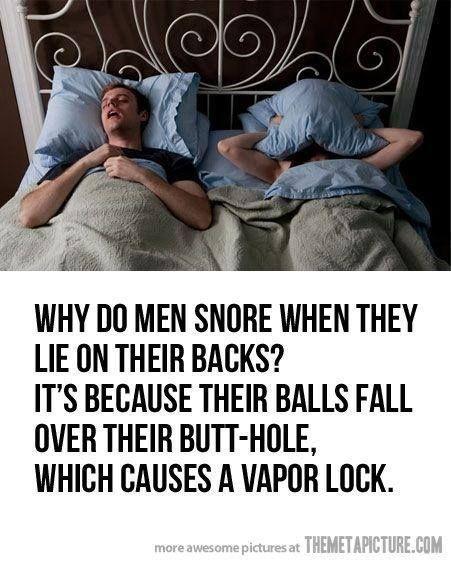 men snore