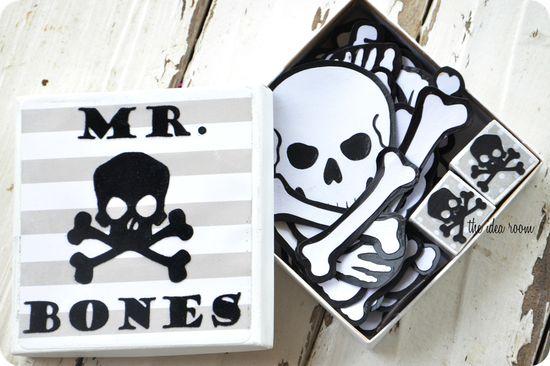 #Halloween game--Mr. Bones via Amy Huntley (The Idea Room)