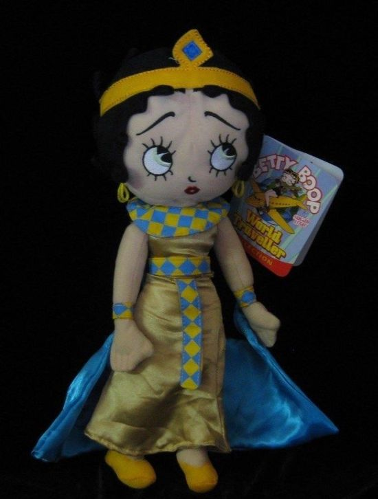 Betty Boop Plush Stuffed Doll World Traveller Collection Egypt Cleopatra