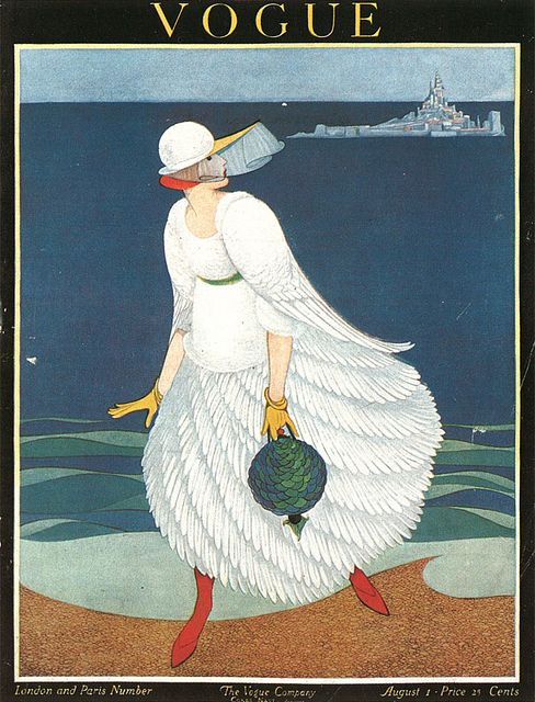Vogue cover ~ by George Plank ~ August 1916
