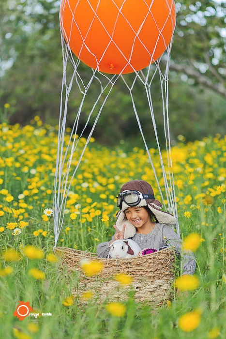 cute air balloon photo by Orange Turtle Photography