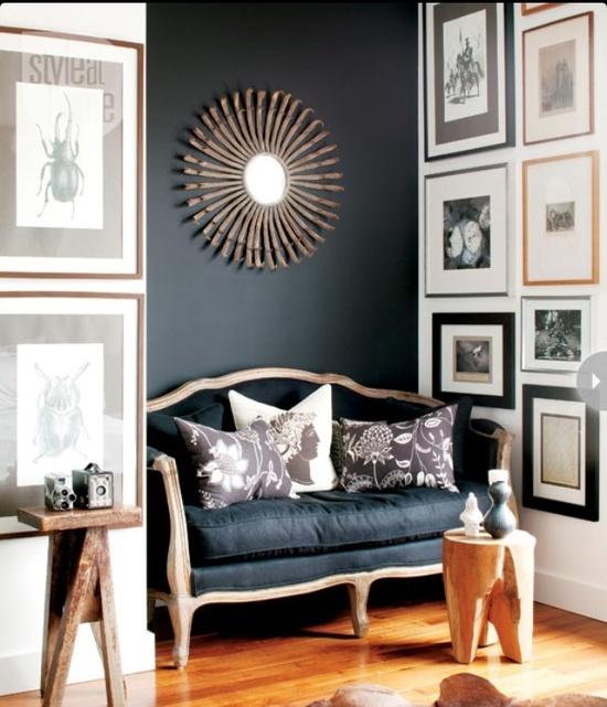 Gallery walls and sofa