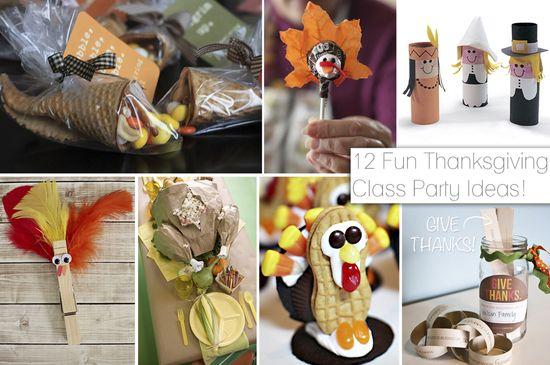 12 Fun Thanksgiving Class Party Ideas - Fancy Shanty