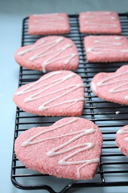 Pink Coconut Cookies
