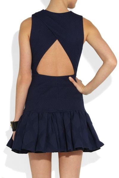 ruffled cotton mini dress