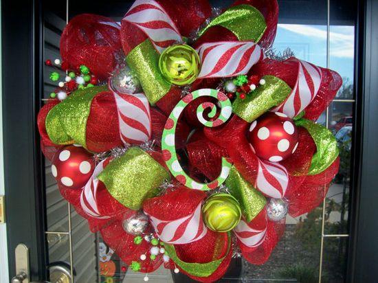 Mesh Christmas wreath.