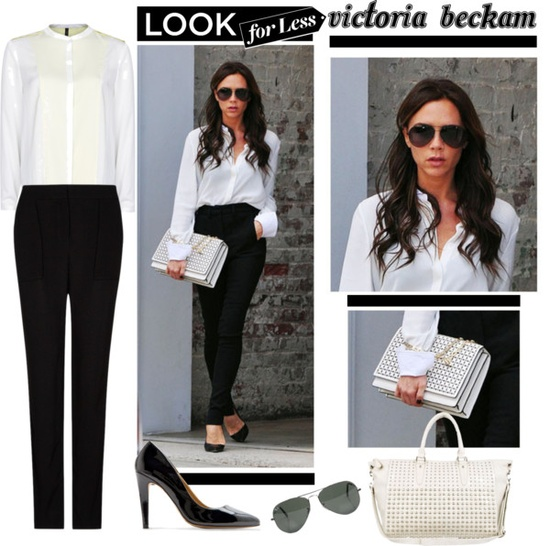 """Look for Less: Victoria Beckham"" by anne-symanski-goranson ❤ liked on Polyvore"