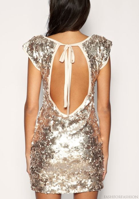 Backless silver party dress