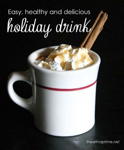 A super easy, delicious and healthy holiday drink on iheartnaptime.net ...only 85 calories! YUM! #recipes