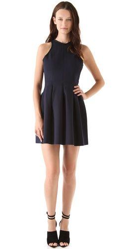 T by Alexander Wang Neoprene Inverted Pleat Dress
