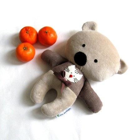 Teddy bear rag doll toy handmade plushie softie by meilingerzita, $35.00
