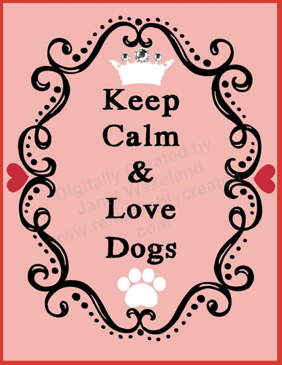 Pet Greeting Cards  - Keep Calm & Love Dogs