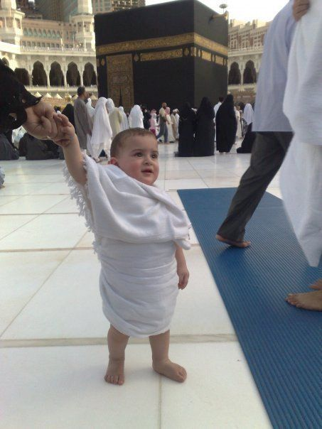 Baby boy visits Mecca for Hajj .