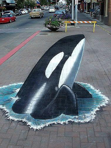 awesome street chalk art!