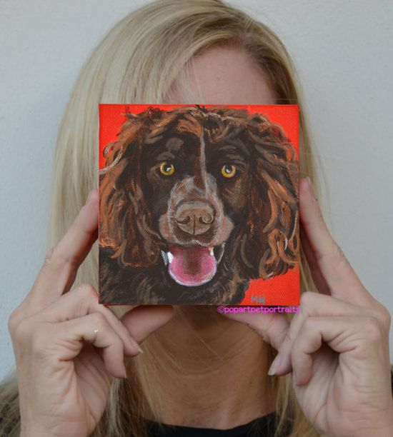 My latest  ; ) Original dog art Pop art pet portraits by PopArtPetPortraits, $75.00