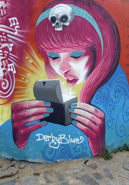 pandora by derbyblue  #streetart #arteurbana #graffiti #urbanart #mural #wall