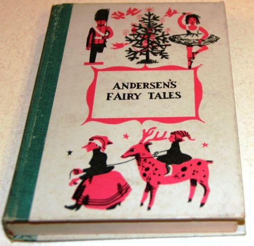 1956 Andersen's Fairy Tales Junior Deluxe Editions 217 Page Hard Cover Book