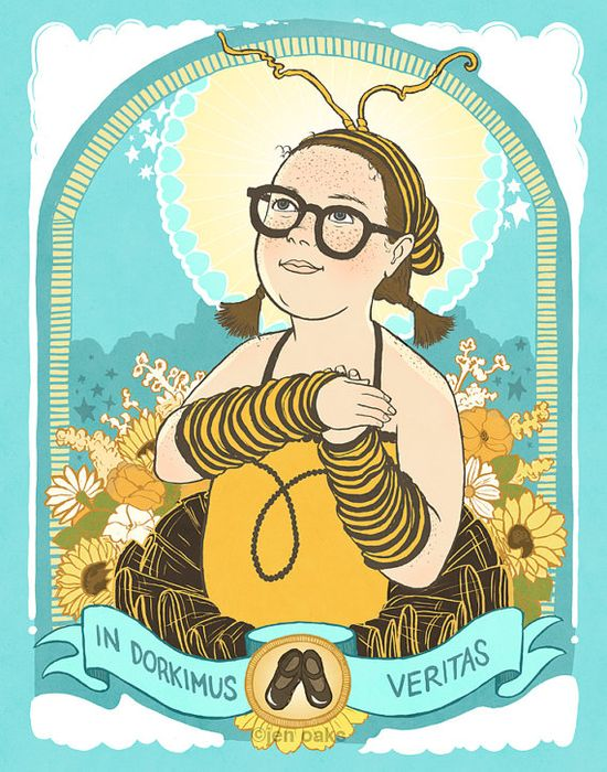 Bee Girl - 8x10 Archival Print by Jen Oaks  @Caity Birmingham saw this on my feed and obviously thought of you!
