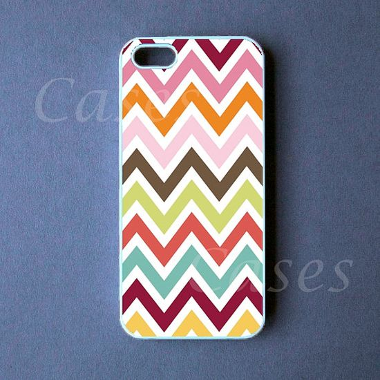 Iphone 5 Case - Colorful Chevron Iphone 5 Cover, Iphone 5s Cases, Iphone 5c Case on Etsy, £9.66