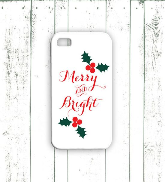 Christmas iPhone Case - Quote iPhone Case with Holly Berries - Red and Green iPHone Case on Etsy, $18.00