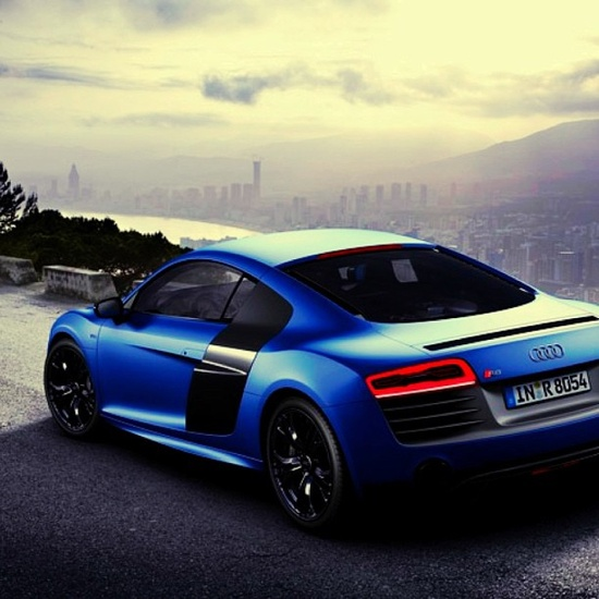 """After all the hard work you do to get to the top, looking at the view is totally worth the wait"" Audi R8"