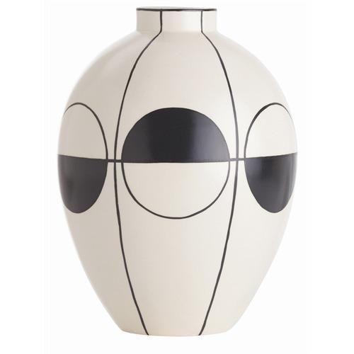 Whistler Ivory/Black Pattern Porcelain Vase
