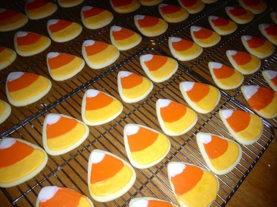 Candy Corn Cookies: Great! #Cookies #Candy_Corn