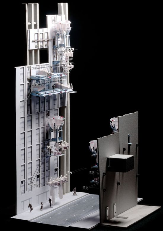 Highly detailed architectural model · Wall Mart by Adrienne Lau of Bartlett School of Architecture / #model #architecture #design