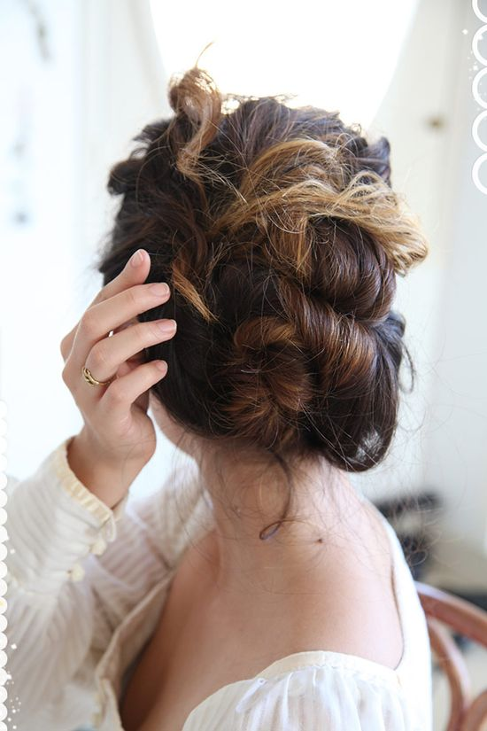 chignon.  (this is my favorite hairstyling blog)