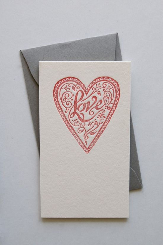 Letterpress Love Notes by in haus press.