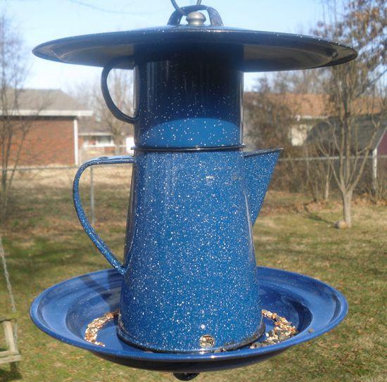 Fun idea for a bird feeder...Ha!