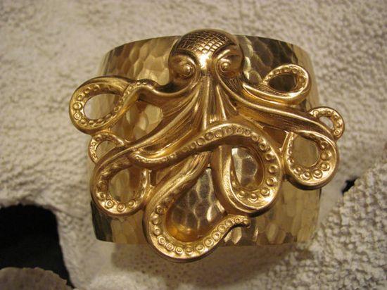 Large Octopus Cuff Bracelet