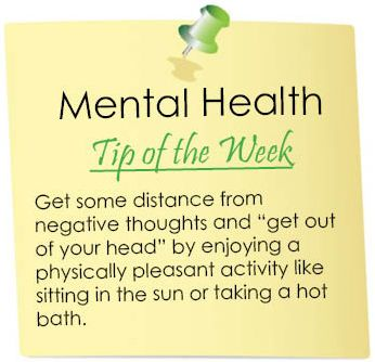 Mental Health Tip of the Week